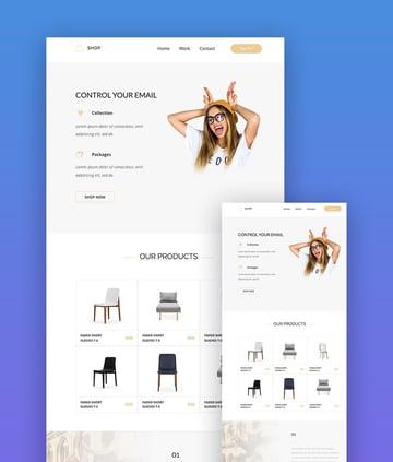 Shop Mailchimp template