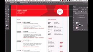 Professional resume design in Adobe Photoshop