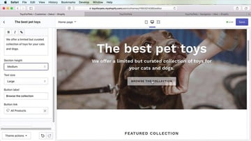 Screenshot from How to Create an Online Store With Shopify