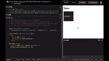 CodePen solution showing Tutsplus and its Twitter avatar