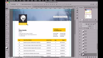 Creating an invoice in Adobe Photoshop