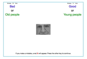 Project Implicit test screenshot