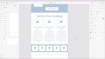 Screenshot from Responsive Design in Adobe XD