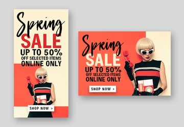 Web banner made in Photoshop