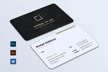 Minimalist business card template