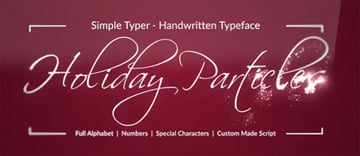 Holiday Particles Handwritten Typeface