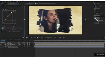 After Effects brush effect template in use