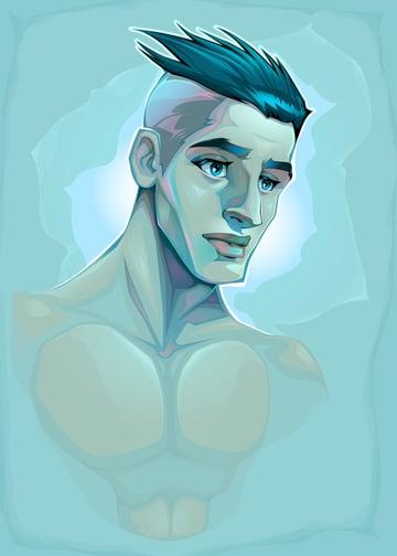 Male Portrait Illustration