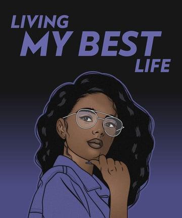 Living My Best Life portrait