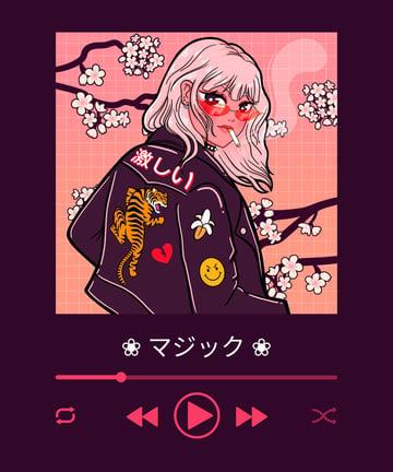 Anime Stylized Portrait Illustration