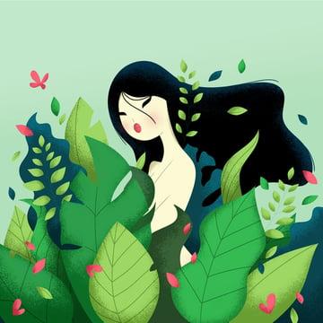Portrait Illustration from Mixkit