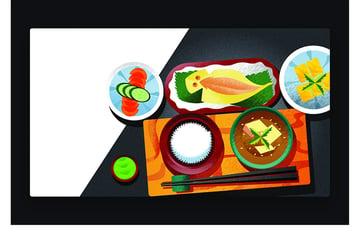 Japanese restaurant illustration