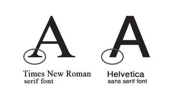 serif vs sans serif
