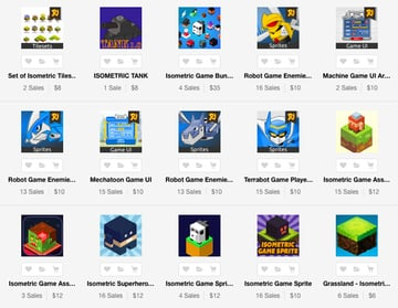 isometric game assets on Envato Market