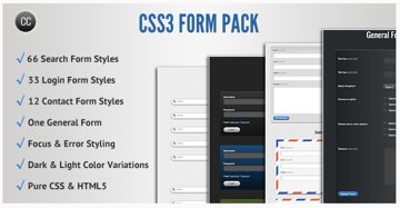 CSS3 Form Pack on Envato Market