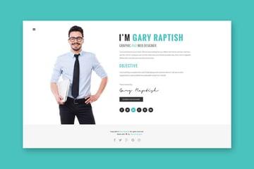 Raptish cv site template