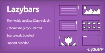 Lazybars - Themeable responsive scrollbar jQuery plugin