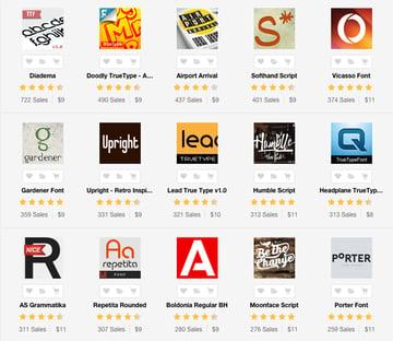 Fonts on Envato Market