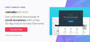 free email templates on Envato Elements