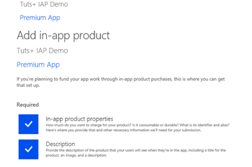 Add in-app product
