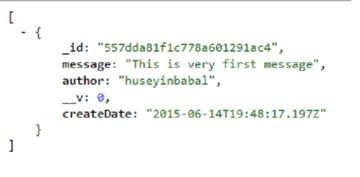 Sample JSON message