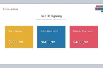 keynote design slide for pricing