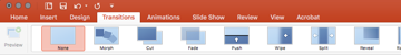 transition pane in PowerPoint