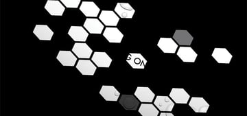 Honeycomb animation example in PowerPoint
