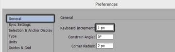 keyboard increment settings