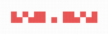adjusting the second row of the pattern