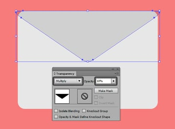 adjusting the emails shadow transparency settings