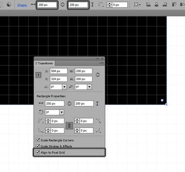 using the align to pixel grid function to fix problems