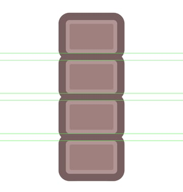 creating the remaining segments for the fourth icon