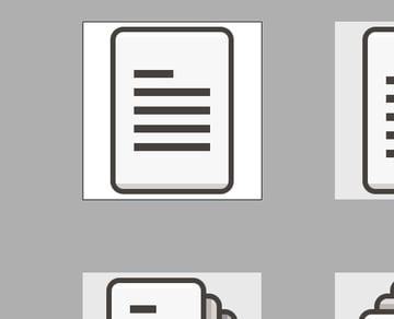 artboard resized to icon base grid