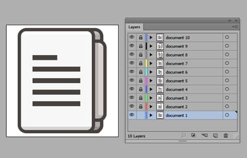 layers panel icons added