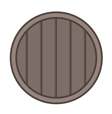 vertical wooden lines masked