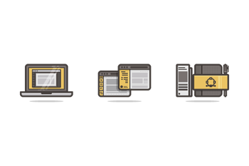 example of icons created using a pixel perfect workflow