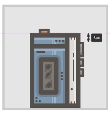 adding the side buttons to the walkman icon