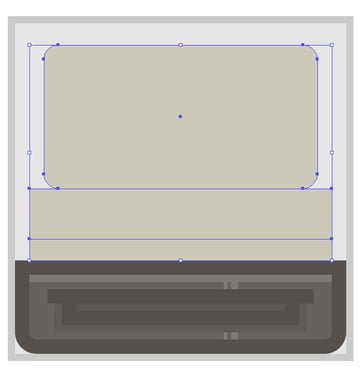 creating the main shapes for the cameras upper section