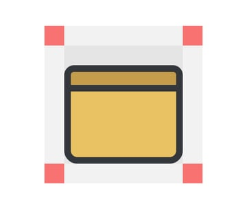 adding the horizontal delimiter to the tablet icon