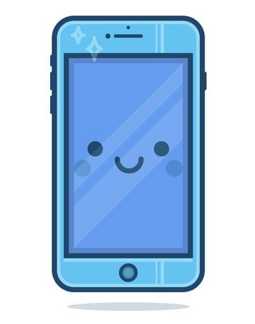 adding a shadow underneath the phones body