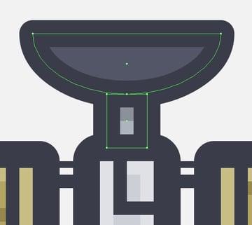 adding the antennas main shapes to the satellite icon