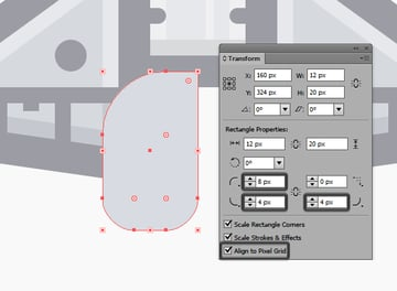 creating the main shape for the left engine