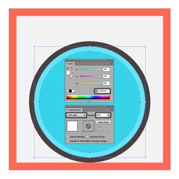 adjusting the blending mode for the default backgrounds highlight