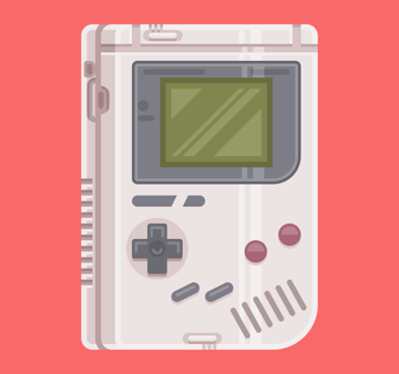 finishing off the side section of the game boy