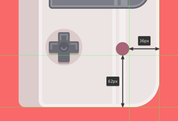 positioning the b button onto the device