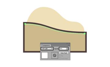 adjusting the blending mode for the sand dunes highlight