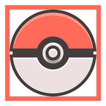 adding the subtle shadow to the poke balls button