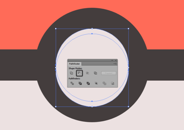 creating the main shape for the poke balls button highlight