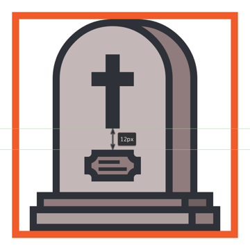 creating and positioning the name plate onto the gravestone